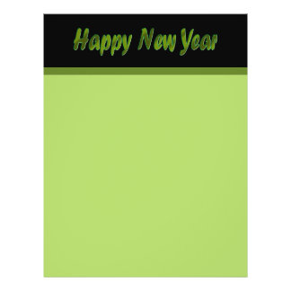 Happy New Year olive green 21.5 Cm X 28 Cm Flyer