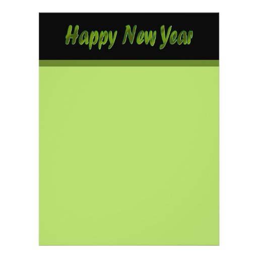 Happy New Year olive green Flyer Design
