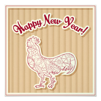 Happy New Year on cardboard Card