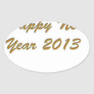 Happy New Year Oval Sticker