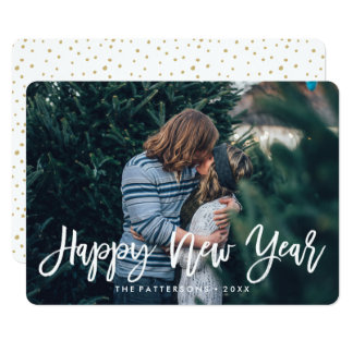 Happy New Year Overlay | Holiday Photo Card 13 Cm X 18 Cm Invitation Card