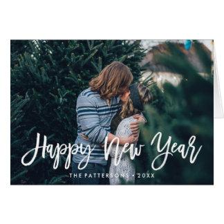 Happy New Year Overlay   Holiday Photo Greeting Card