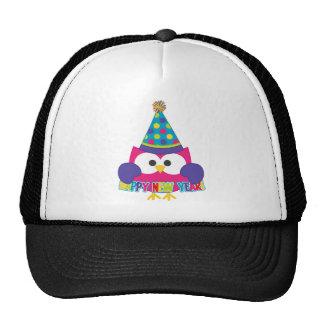 Happy New Year Owl Trucker Hats