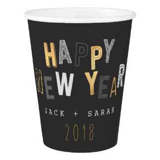 HAPPY NEW YEAR PAPER CUP