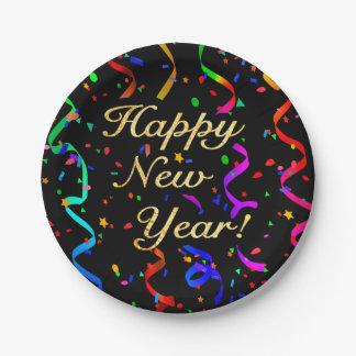 """""""Happy New Year!"""" Paper Plate"""