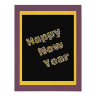 Happy New Year Party 11 Cm X 14 Cm Invitation Card