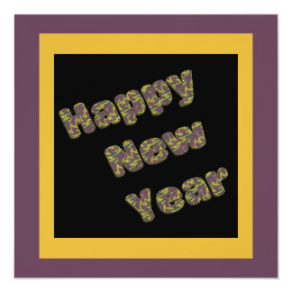 Happy New Year Party 13 Cm X 13 Cm Square Invitation Card