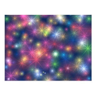 Happy New Year Party Festive Glitter Stars Postcard