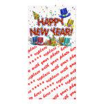 Happy New Year Party Hats Custom Photo Card