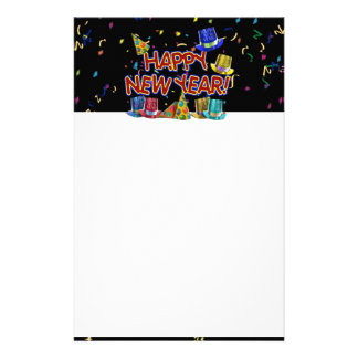 Happy New Year Party Hats Stationery