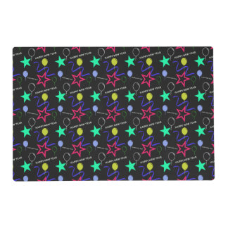 Happy New Year Pattern Laminated Placemat