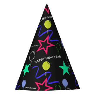 Happy New Year Pattern Party Hat