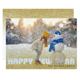 Happy New Year Photo Card - 2018 Greeting Card