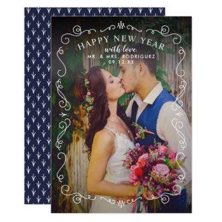 Happy New Year Photo Card | Elegant Frame
