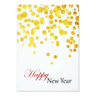 Happy New Year Photo Card   Lucky Gold Coins 13 Cm X 18 Cm Invitation Card