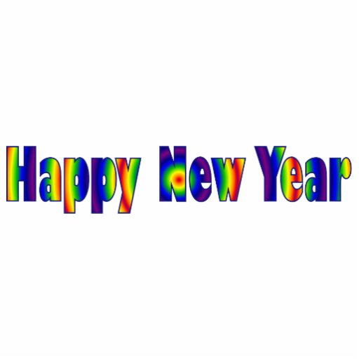 Happy New Year Acrylic Cut Outs