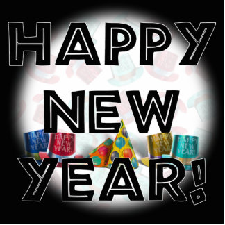HAPPY NEW YEAR! PHOTO CUT OUTS