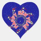 Happy New Year Pin Wheel Heart Sticker