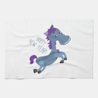 Happy New Year Pony Hand Towel