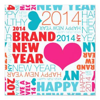 Happy new year postcard 13 cm x 13 cm square invitation card