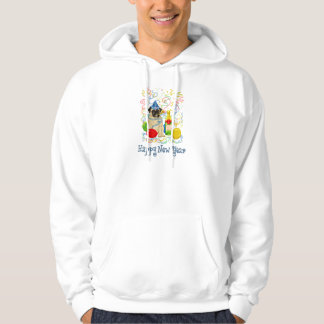 Happy New Year Pug Hoodie