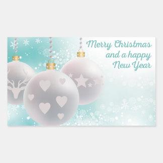 Happy new year rectangular sticker