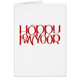 Happy New Year red Note Card