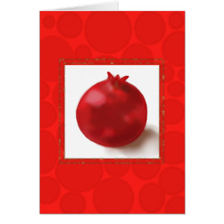 Happy New Year - red pomegranate fun Card