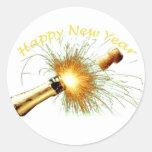 Happy New Year Round Sticker