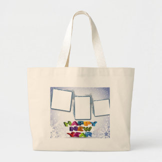 Happy New Year s Add Your Photos Canvas Bags