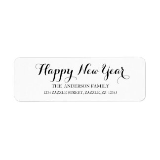 HAPPY NEW YEAR Script Modern Custom Address
