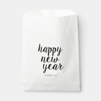 Happy New Year Script Party Favor Bags
