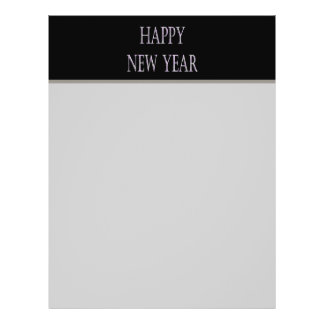 happy new year silver holiday 21.5 cm x 28 cm flyer