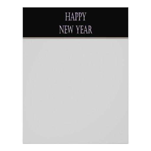 happy new year silver holiday full color flyer