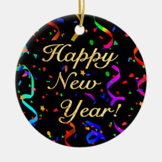 """""""Happy New Year!"""" (single-sided) ornament"""