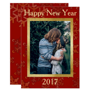 Happy New Year Snowflake Template Card 13 Cm X 18 Cm Invitation Card