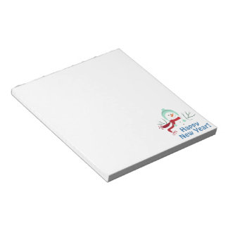 Happy New Year Snowman Notepad