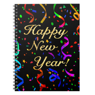 """Happy New Year!"" Spiral Notebook"