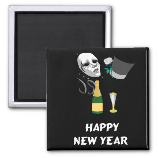 Happy New Year Square Magnet