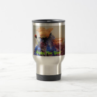 Happy New Year Stainless Steel Travel Mug