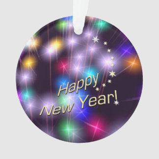 Happy New Year Star Lights Ornament