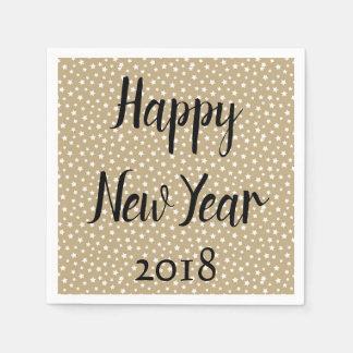 Happy New Year Stars Disposable Serviette