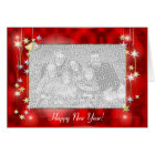 Happy New Year Stars (photo frame) Card