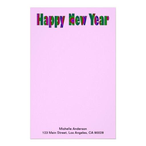 happy New year Custom Stationery
