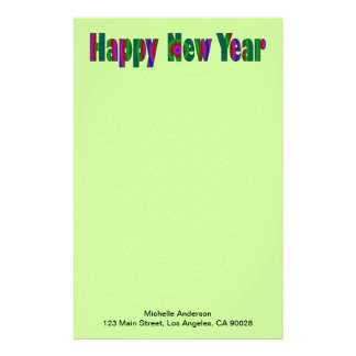 happy New year Stationery Design