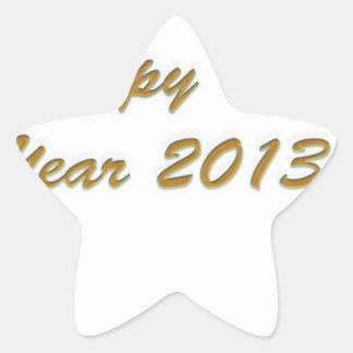 Happy New Year Star Stickers