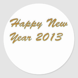 Happy New Year Round Stickers