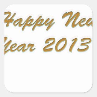 Happy New Year Square Sticker