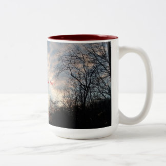 Happy New Year Sunrise Two-Tone Coffee Mug