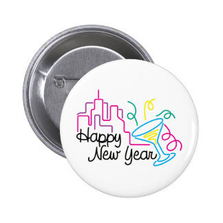 Happy New Year T-Shirts New Year's 6 Cm Round Badge